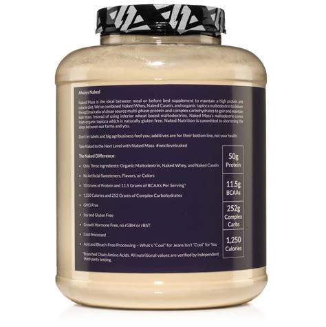 weight gainer protein supplement lb naked mass