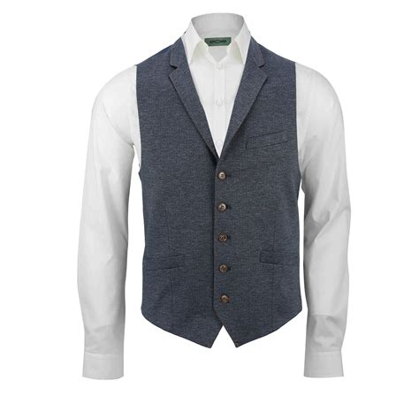 Mens Blue Stretch Smart Vintage Fitted Designer Blazer