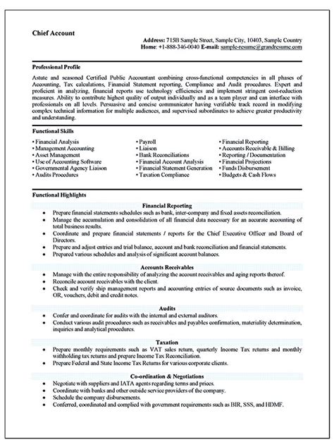 accounting resume    perfect