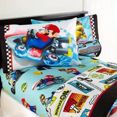 super mario bros bedding full canada mario road rumble bedding sheet set
