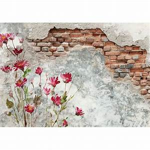 Brick, Wall, With, Flower, Painting, On, It, In, 2020