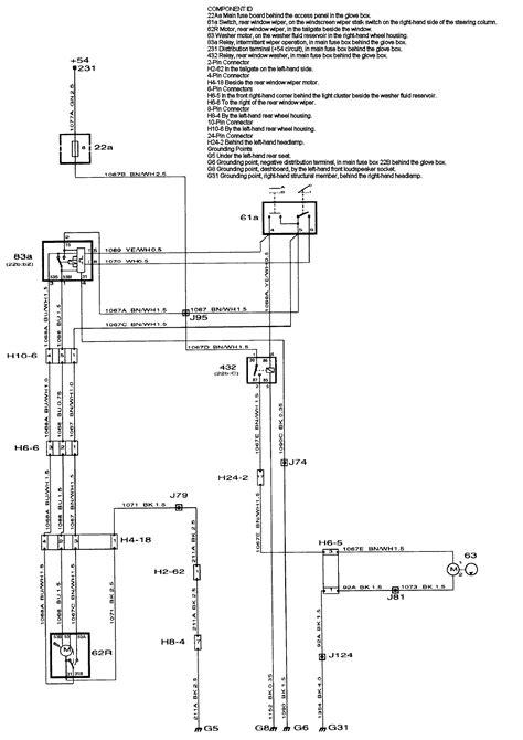 Saab 99 Wiring Diagram by Rear Window Wiper