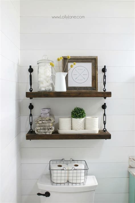 Bathroom Shelf Ideas by 45 Best Hanging Bathroom Storage Ideas For 2019