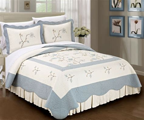 Cotton Coverlets by Bnf Home Classic Embroidered Cotton Bedspread Quilt
