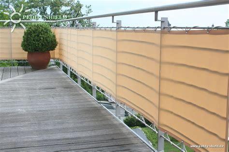 Brise vue balcon 90 x 500 cm couleur sisal avec oeillets et cordelettes