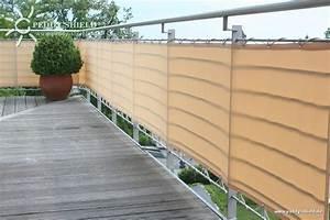 Brise Vue Pour Terrasse : brise vue balcon 90 x 500 cm couleur sisal avec oeillets ~ Dailycaller-alerts.com Idées de Décoration