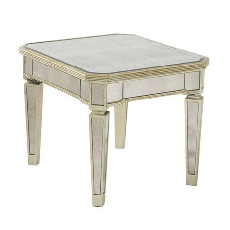 silver leaf end table shop bassett mirror company borghese silver leaf end table