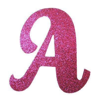 letra cursiva em gliter a pink moldes de letras