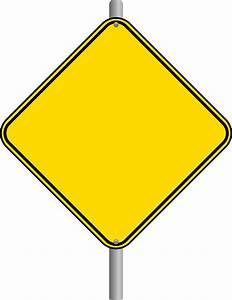 Blank Road Sign Clipart