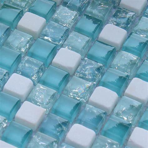 glass mosaic floor tile crackle glass mosaic tile backsplash blue mosaic stone