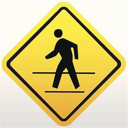 Sign Pedestrian Crosswalk Vector Crossing Clip Illustrations
