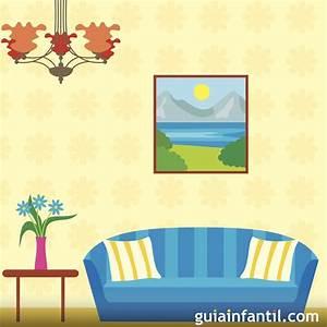 Dibujos para colorear de objetos del salón