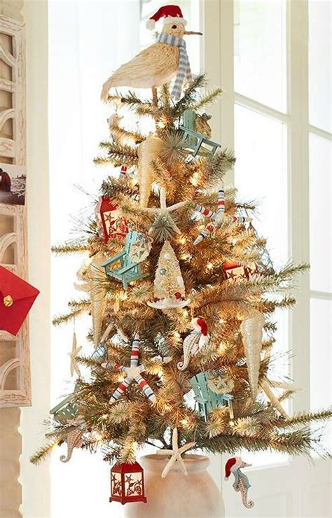 beach christmas tree decorations  pier  coastal