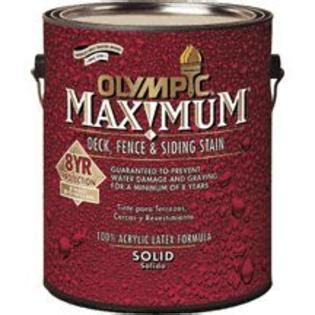 olympic maximum voc compliant solid stain navajo red