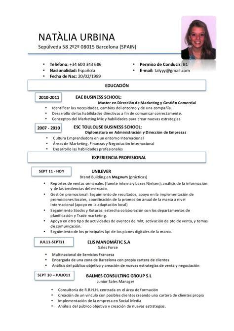 curriculum template espanol curriculum vitae template en espanol curriculum vitae