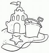 Sand Coloring Castle Sandcastle Coloriage Bucket Kleurplaten Sheets Drawing Colornimbus Imprimer Building Buckets Printable Colouring Structure Seau Shovel Preschool Castles sketch template