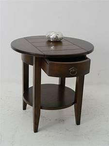 Beistelltisch Mit Schublade : beistelltisch couchtisch teetisch rund eiche massiv mit 1 schublade 4219 ebay ~ Bigdaddyawards.com Haus und Dekorationen