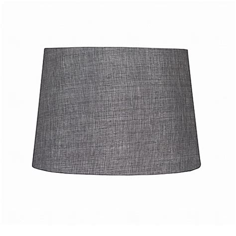 linen drum l shade buy 9 inch linen hardback drum l shade in grey from bed