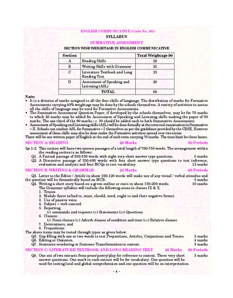 Cbse class 2 english have following chapters. Download CBSE Class-10 English Communicative (Pullout ...