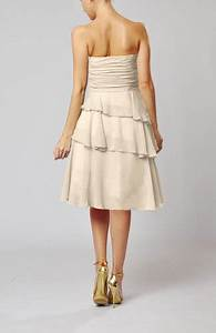 cream romantic a line sleeveless backless chiffon ruching With cream dresses for a wedding guest