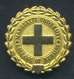 marquette university nursing graduation pin gold nursing pin