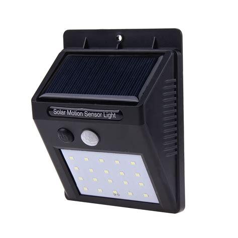 solar powered outdoor wall light pir 20 led solar power pir motion sensor led wall light