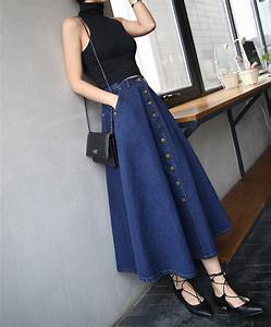 Skirt denim cute korean fashion korean style ulzzang ootd beautiful pretty - Wheretoget