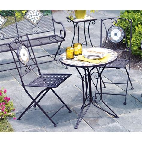 living accents slate bistro 3 set one table and two