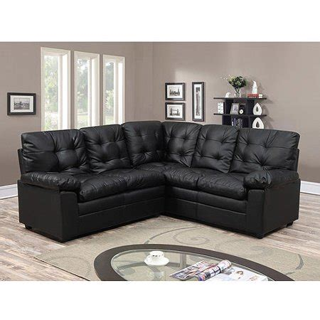 Buchannan Faux Leather Loveseat by Buchannan Faux Leather Corner Sectional Sofa Black