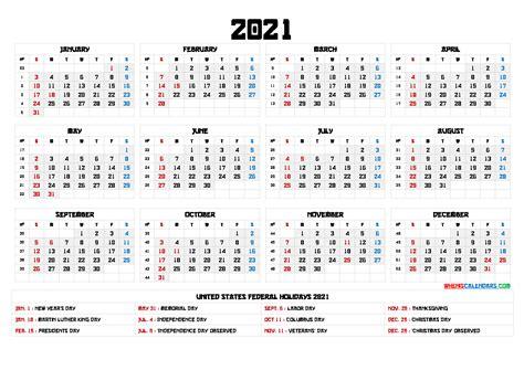 2021 Calendar with Week Numbers Printable - 6 Templates ...