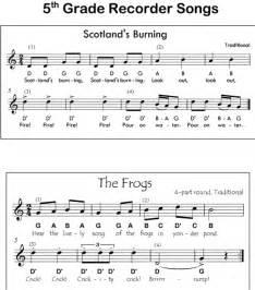 Kids Recorder Songs Sheet Music