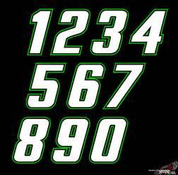 NASCAR Race Car Number Fonts