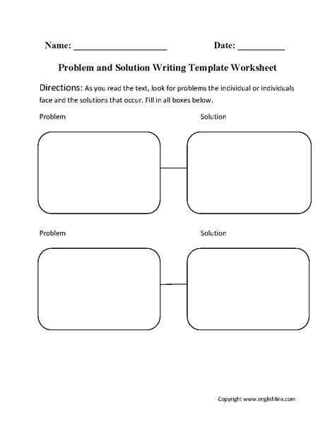 writing template worksheets problem and solution writing template worksheet