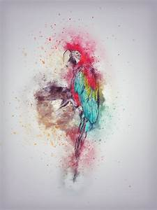 Abstract Watercolor Paintings Of Birds - Defendbigbird.com