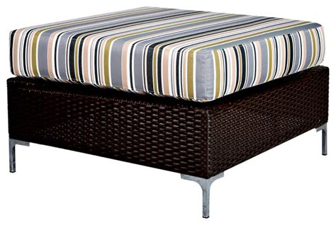 indoor wicker end tables portfolio dorchester stripe indoor outdoor resin wicker