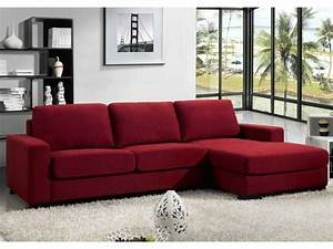 Canape Angle Rouge : canape d 39 angle rouge ~ Teatrodelosmanantiales.com Idées de Décoration