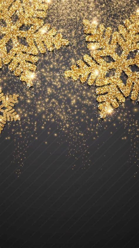 Gold Winter Wallpaper Iphone by Christmaswallpaper 101 In 2019