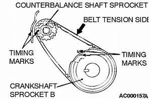 If U Can Get Me A Diagram Of Timing Belt Marks For 2002 Mitsubishi Galant 2 4 Engine 4 Cyl  Please