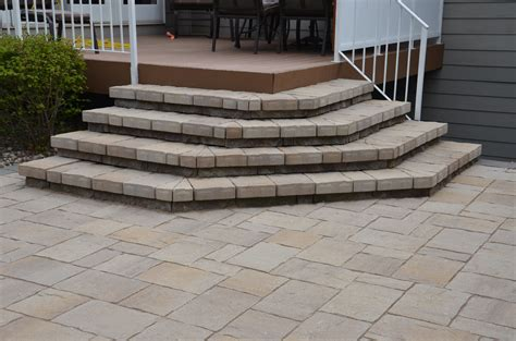 how to build patio steps using pavers icamblog