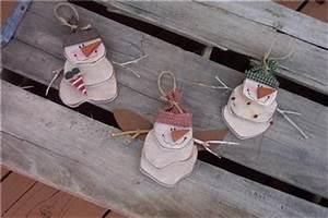 SNOWMAN Christmas ORNAMENT RUSTIC Wood Craft Pattern
