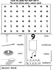 letter  wordsearch enchantedlearningcom