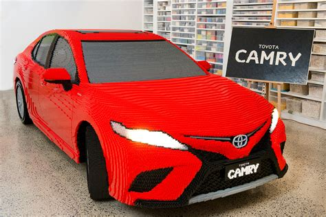 Size Cars by Someone Built A Size Toyota Camry From Lego Bricks