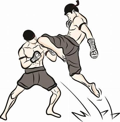 Muay Boran Thai Martial Arts Drawn Boxing