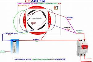 2hp Single Phase Induction Motor Winding  U22c6 Electric Motor