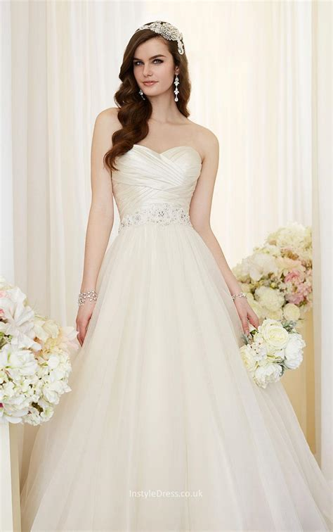 Lace Up Ruched Bodice Strapless Sweetheart Ball Gown