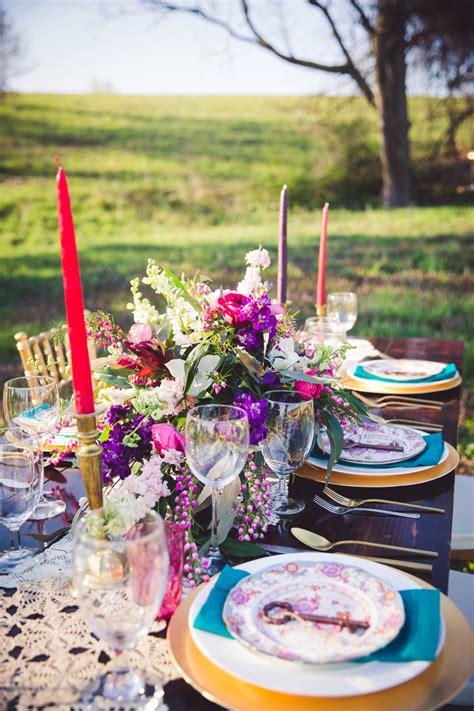 colorful rustic boho wedding ideas   detail