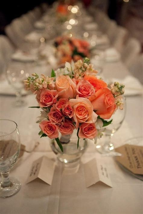 Coral Wedding Flowers Centerpieces 03 OOSILE