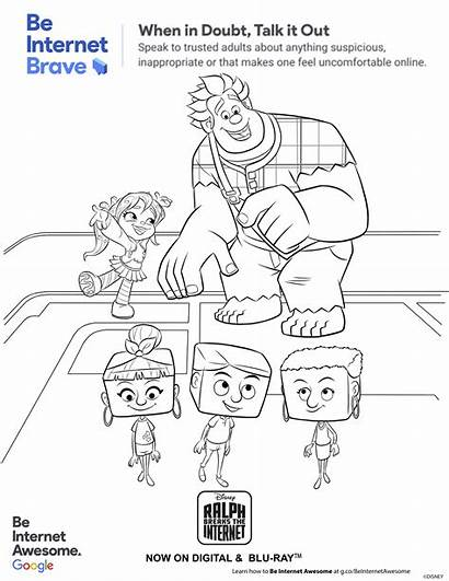 Internet Ralph Breaks Safety Activity Pages Printables