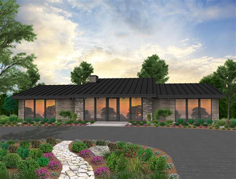 silk house plan  story modern home design   pool
