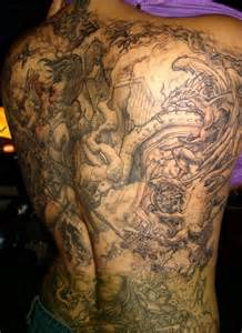Angel Fighting Demon Tattoo Designs